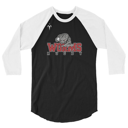 Westerville Worms Rugby 3/4 sleeve raglan shirt