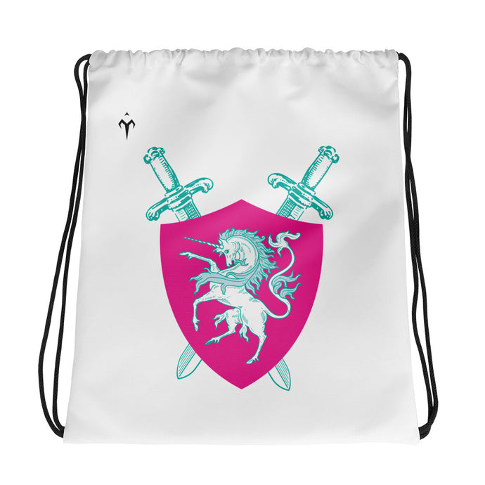 Majestic Unicorns Rugby Drawstring bag