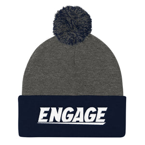 Engage Rugby Pom Pom Knit Cap