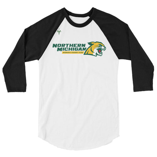 Northern Michigan Rugby Women's Club Rugby 3/4 sleeve raglan shirt