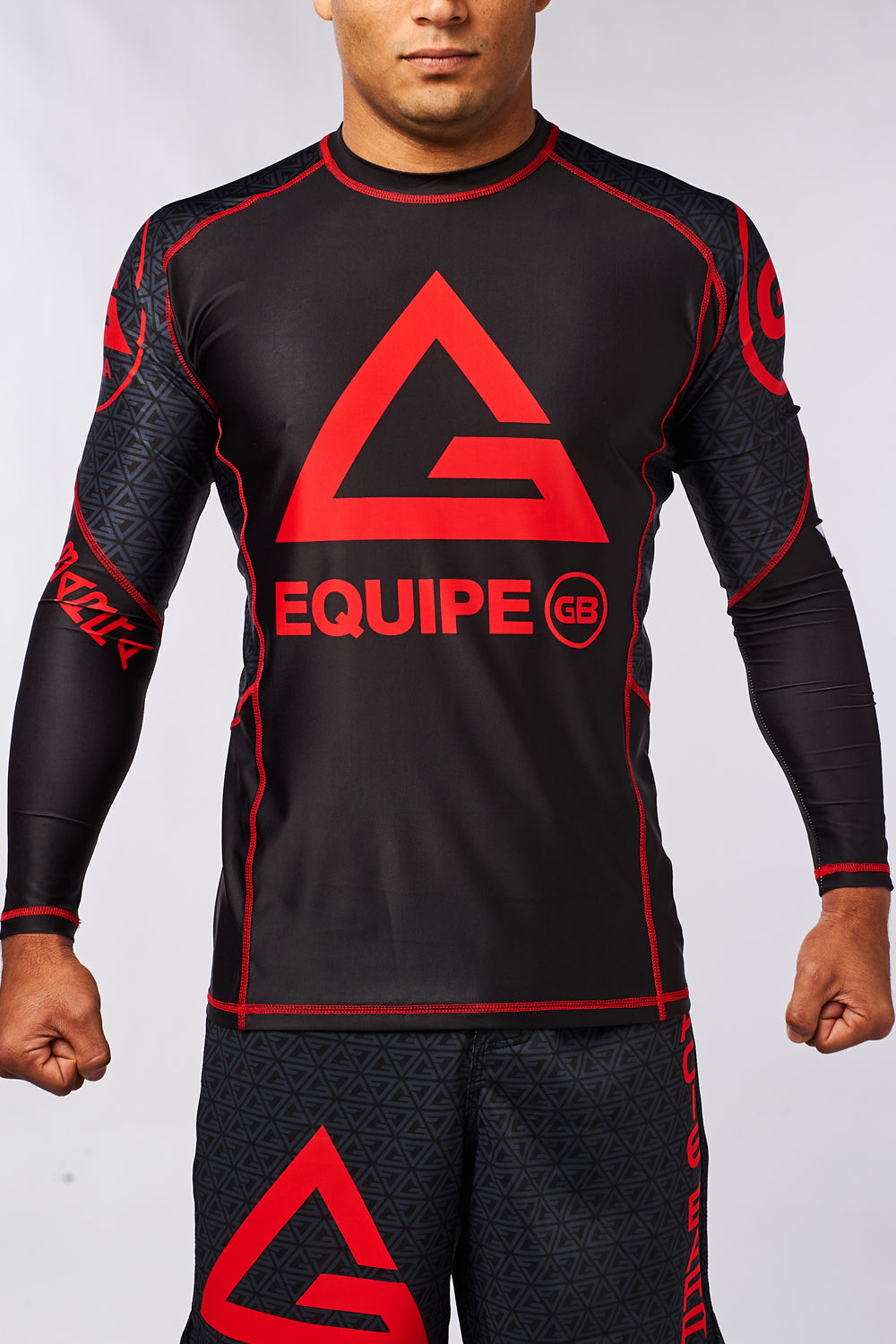 Equip Compressed Fit L/S Rashguard - Black