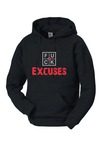 FUCK EXCUSES PULLOVER HOODIE