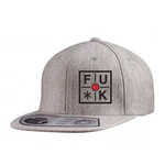 FU*K - Wool Blend Flat Bill Snapback (Grey)