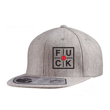 FUCK - Wool Blend Flat Bill Snapback (Grey)