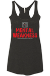 FU*K Mental Weakness Women's Racer