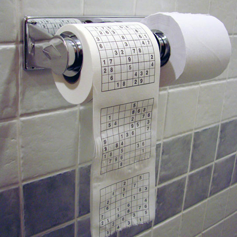 Sudoku Puzzle Toilet Roll
