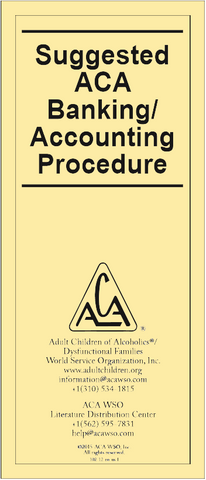 Suggested Banking/Accounting Procedures