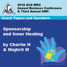 2018 AWC - Charlie H & Majbrit M- Sponsorship & Inner Healing  (CD not available; download only)