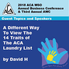 2018 AWC - David H - A Different Way To View The 14 Traits Of The ACA Laundry List  (CD not available; download only)