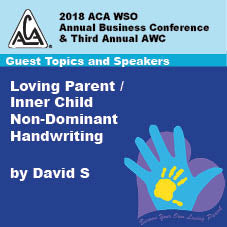 2018 AWC -David S - Loving Parent/Inner Child Non- Dominant Handwriting (CD not available; download only)