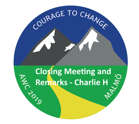 2019 AWC Closing Talk - Charlie H - Courage Applied - (CD not available; download only)