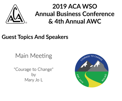 2019 AWC - Courage to Change  - Mary Jo L (USA) (CD not available; download only)