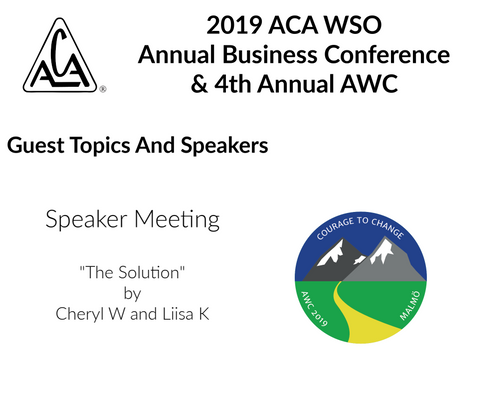 2019 AWC - The Solution Cheryl F Canada & Liisa K Finland (CD not available; download only)