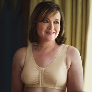 Leisure and Post-op Mastectomy Bra (Beige) by American Breast Care