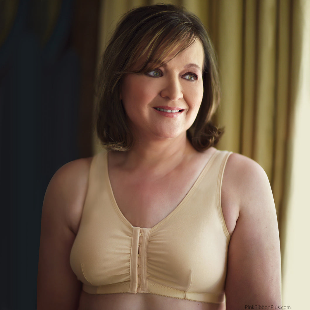 Leisure and Post-op Mastectomy Bra style 110 (Beige) by American Breast Care