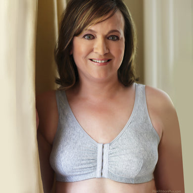 Leisure and Post-op Mastectomy Bra (Gray) by American Breast Care