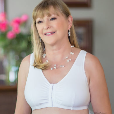 Leisure and Post-op Mastectomy Bra (White) by American Breast Care