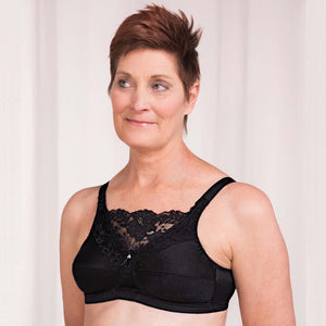 4019 Jessica Mastectomy Bra (Black) by Trulife