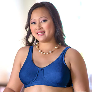 Rose Mastectomy (Navy Blue) Bra by American Breast Care