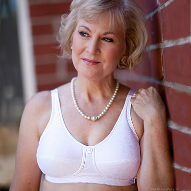 Rose Mastectomy (White) Bra by American Breast Care