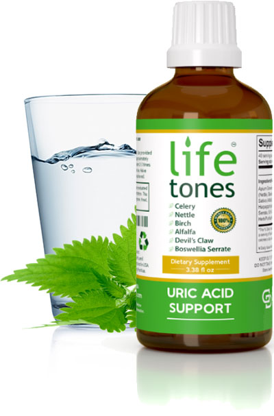 Lifetones Tincuture with Water Glass