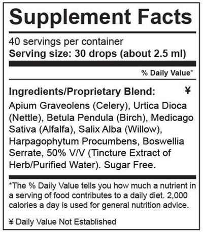 Supplement Fact Uric Acid Support