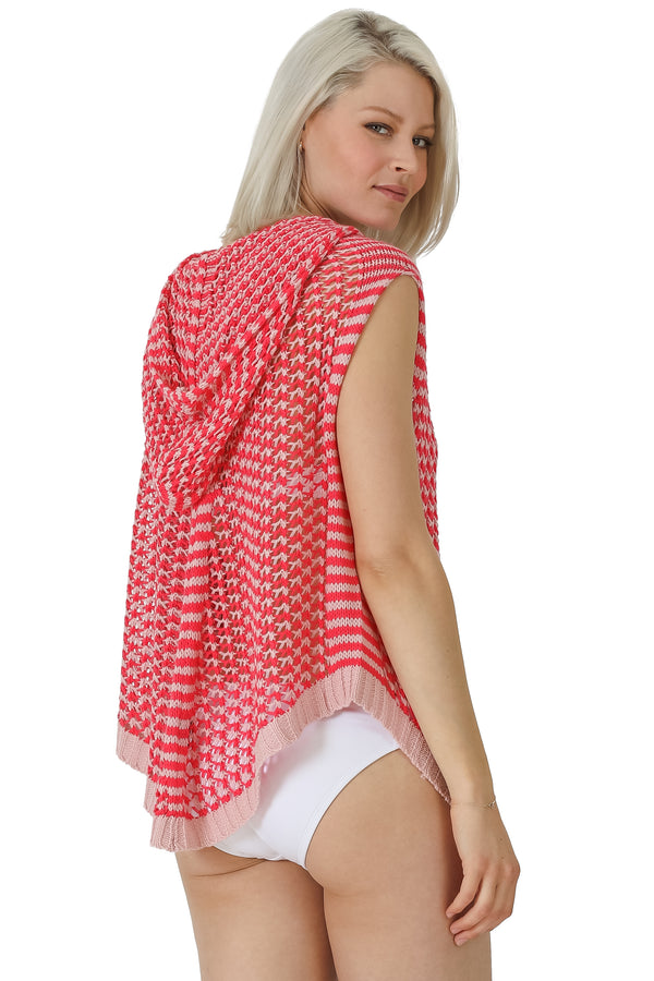 Crosstitch Crochet Hooded Coverup