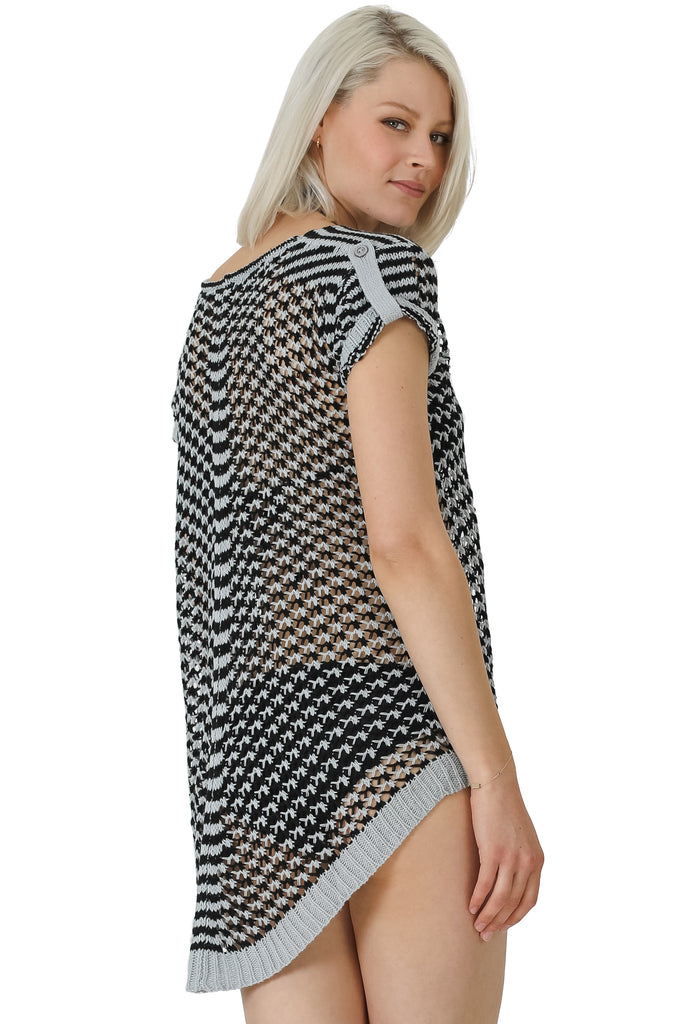 Diagonal High/Low Coverup Top