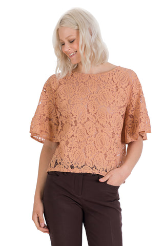 3/4 Sleeve Lace Top