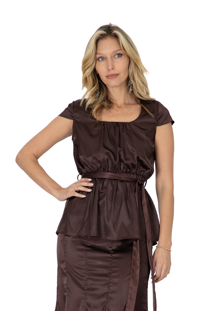 Sydney Square Neck Satin Top