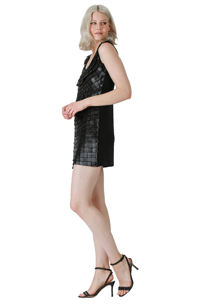 Just One Night Sateen Flapper Tank Dress