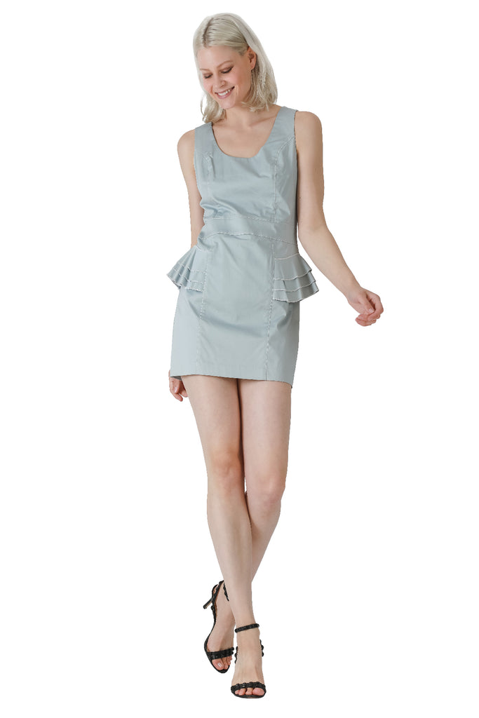 Walk in the Park Peplum Tank Dress