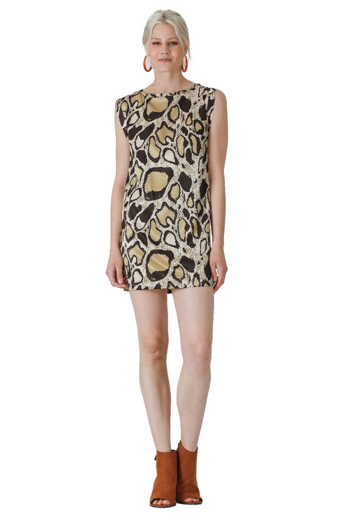 Vortex Snakeskin Shift Dress