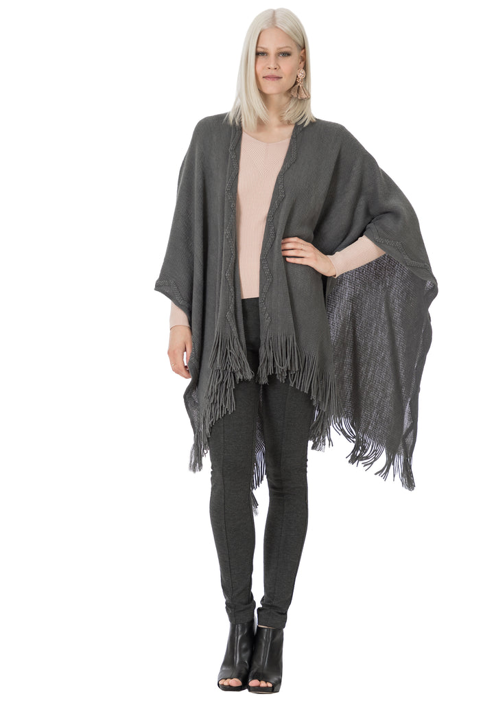 Cheyenne Fringe Sweater Wrap