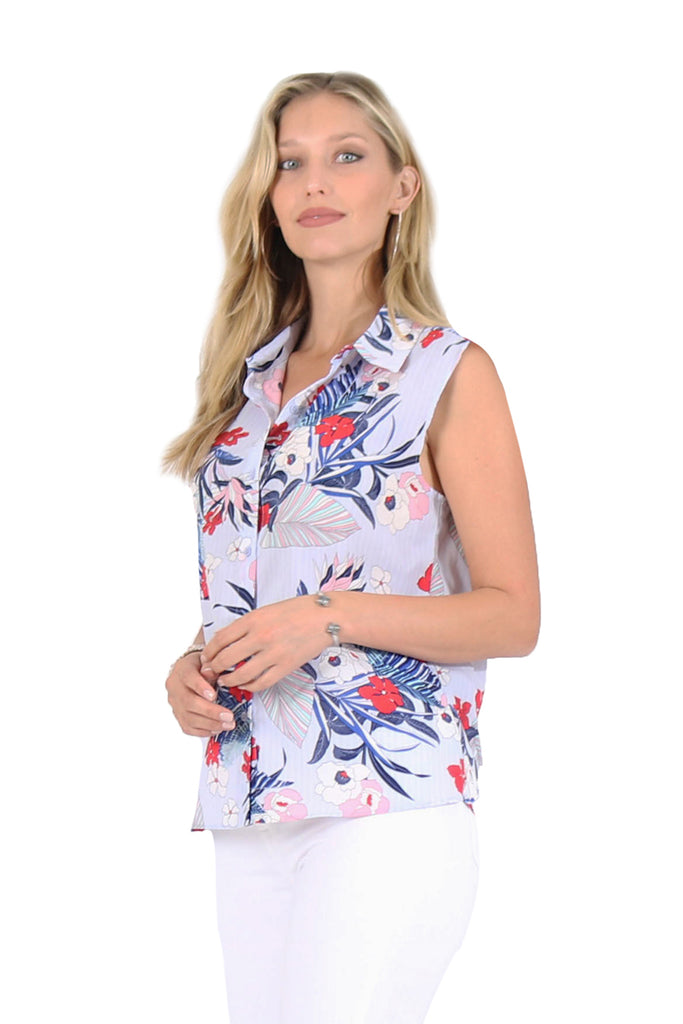 Aloha Printed Short-Sleeve Top
