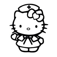 Lovely Nurse Cat Window Stickers