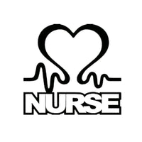 Nurse Heart Loving Car Sticker