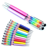 10 Pcs Colorful Stylus Crystal Ballpoint Pen