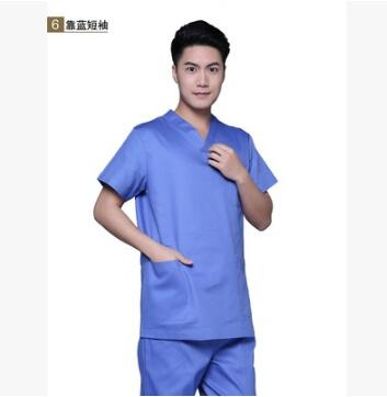 100% Cotton Nurse Scrubs Set for Men and Women