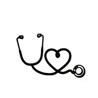 Nurse Stethoscope Love Car Sticker