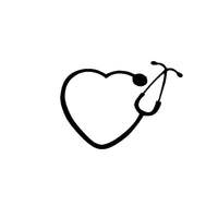 Stethoscope Heart Car Sticker