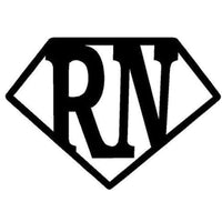 RN Super Nurse Car Sticker