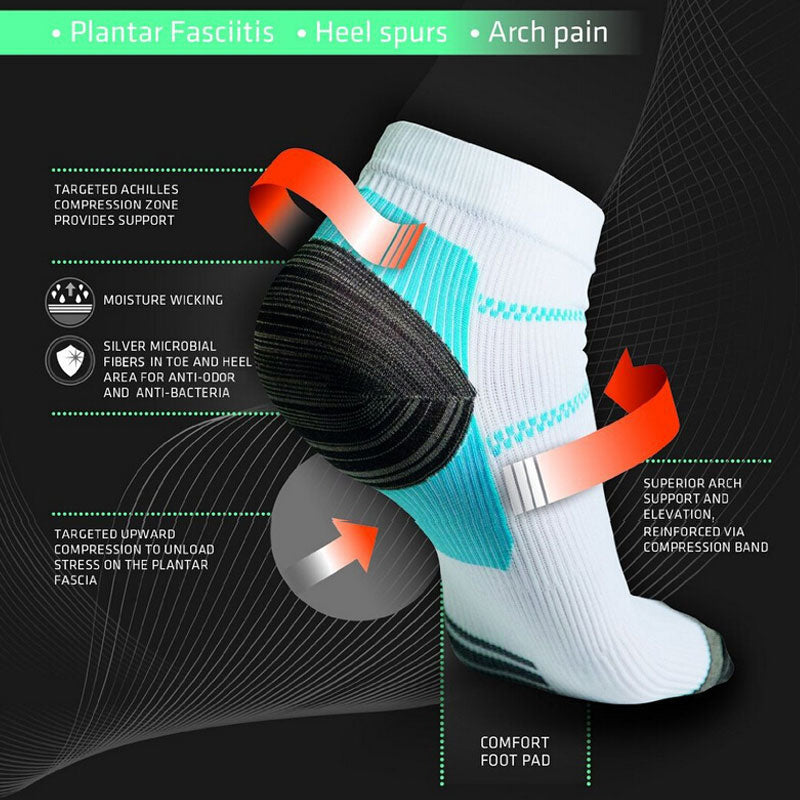 New Miracle Foot Compression Sock Anti-Fatigue Plantar Heel Spurs Pain Sock For Men/Women