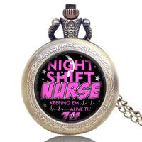 Night Shift Nurse Pocket Watch