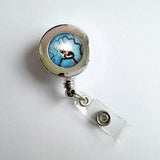 Lovely Cat Retractable Badge Holder