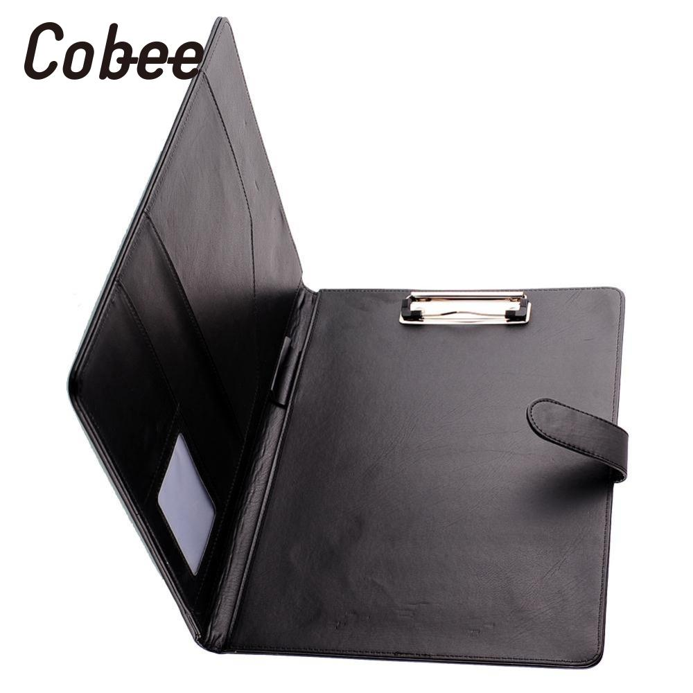 Black Business A4 Executive Leather Clipboard Organizer Planer