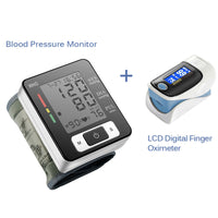 Portable Digital Wrist Blood Pressure Monitor And Finger Oximeter