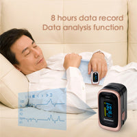 Finger Pulse Oximeter with 8 Hour Sleep Monitoring