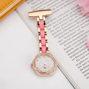 Flower Shaped Rose Gold Nurse Watch