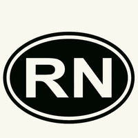 Rn Registered Nurse Car Sticker for Window Bumper Car 10 Colors